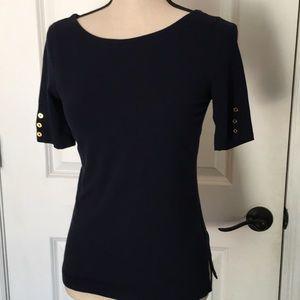 Lauren Ralph Lauren navy top.  Size PS.